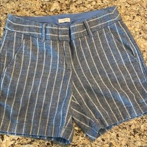 J Crew women's shorts blue and white